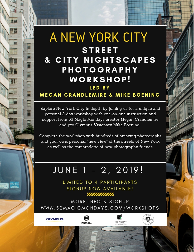 Megan Crandlemire Mike Boening Photography Workshop NYC June 1 & 2, 2019