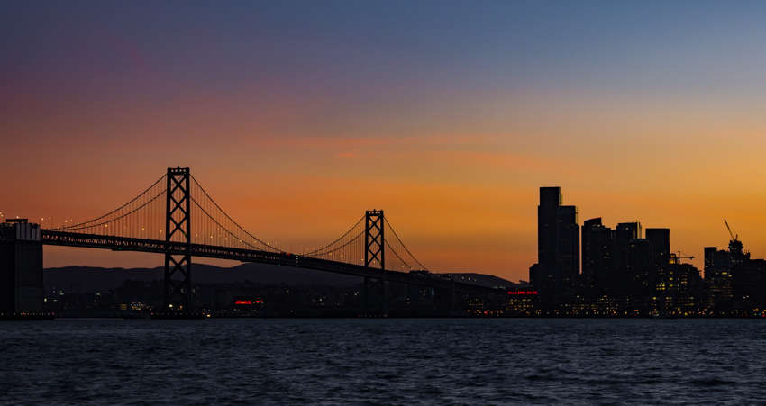 Megan Crandlemire Photography, Bay Bridge at sunset