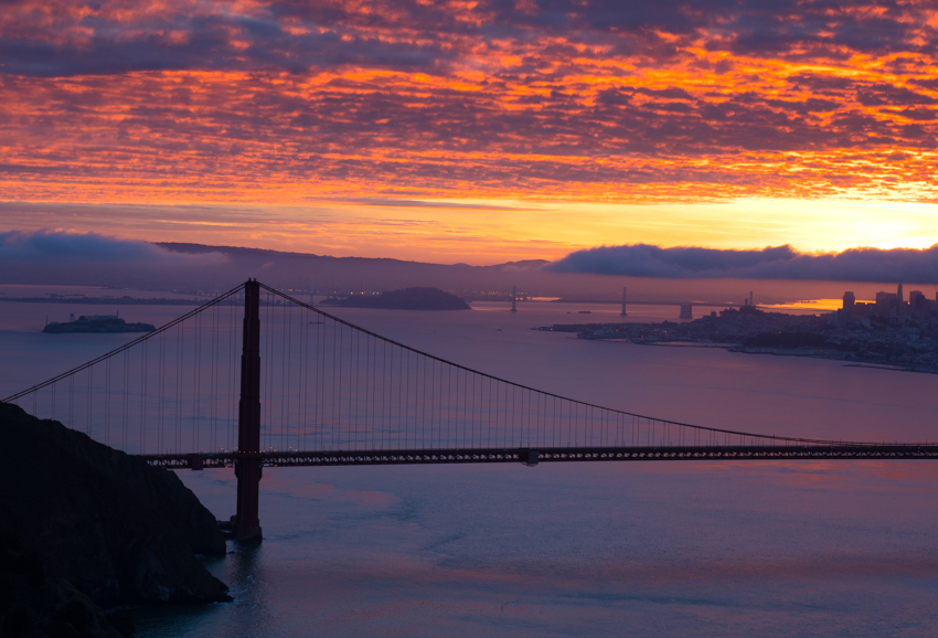 sunrise hawk hill, golden gate bridge, megan crandlemire photography