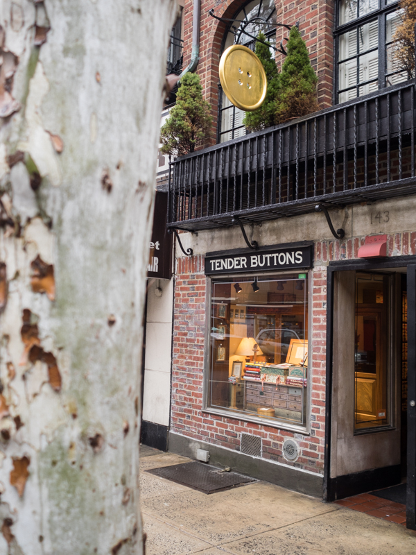 Tender Buttons 62nd Street NYC