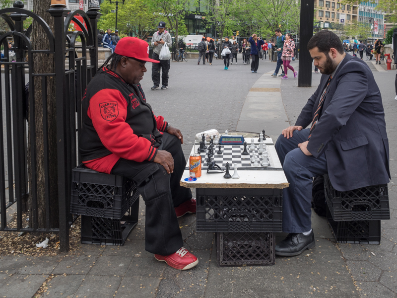playing chess union square NYC
