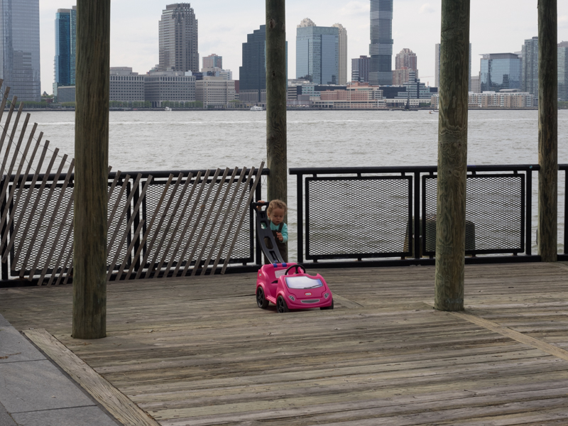 Hudson River New York child playing