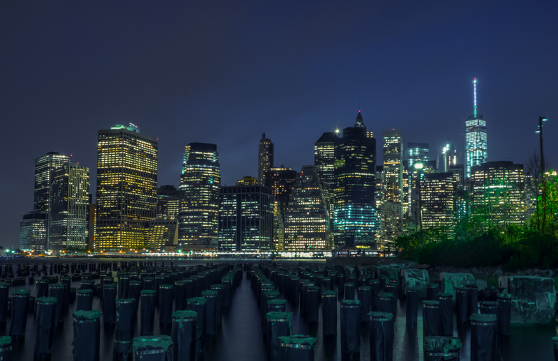 Brooklyn Bridge Park night photography