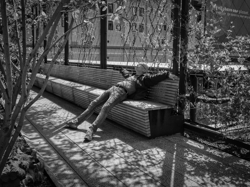 resting on the highline, Megan Crandlemire Photography